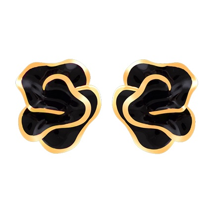 buy Flowers Design Black Color Earring at Rs. 300 sold by Shoppers Stop