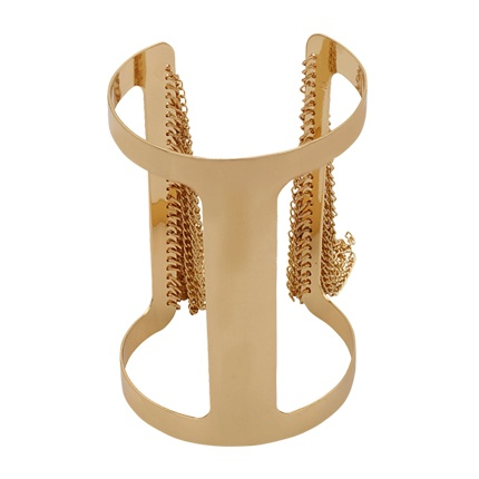 buy Gold-Toned Glossy Cuff-Bracelet at Rs. 325 sold by Voylla