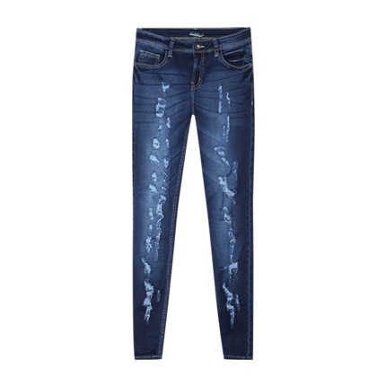 buy Heavily Distressed Jeans at Rs. 811 sold by Ajio