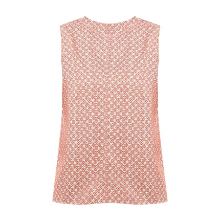 buy PEPE JEANS Geometric Print Sleeveless Top with Tie-Up Back at Rs. 839 sold by Ajio