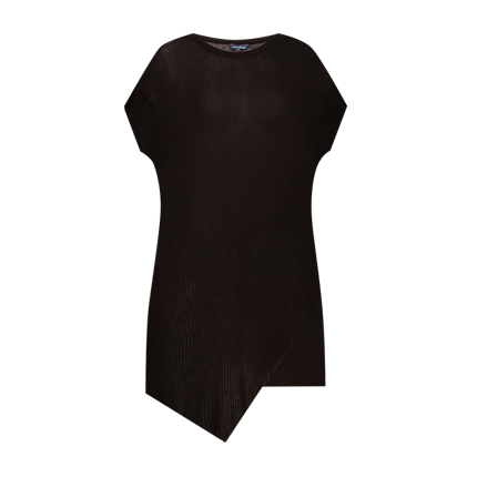 buy Ribbed Top with Asymmetric Hemline at Rs. 321 sold by Ajio