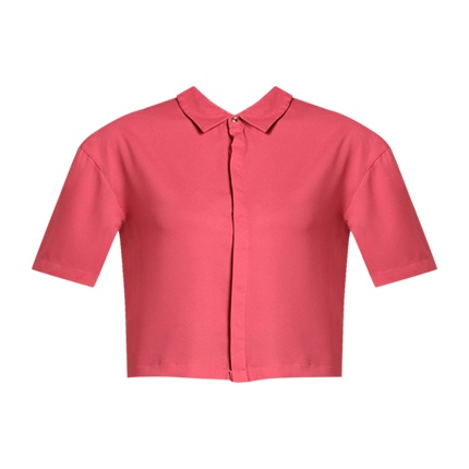 eed167b37f Explore latest AJIO Crop Shirt with Concealed Placket at Rs. 479 ...
