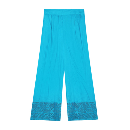 buy Pleated Culottes with Eyelet Hem at Rs. 800 sold by Ajio