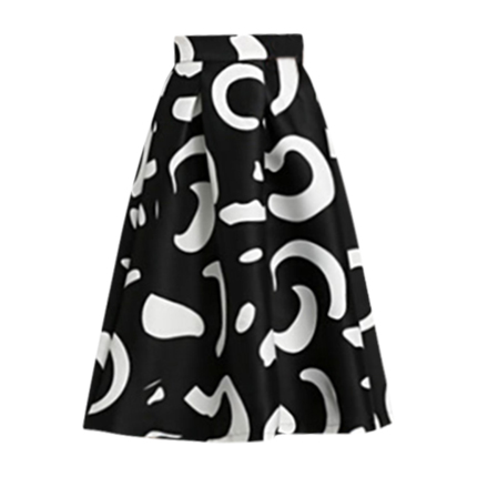 buy High Waist Floral Midi Skirt at Rs. 1,496 sold by Shein