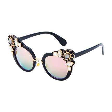 buy Contrast Rhinestone Cat Eye Sunglasses at Rs. 846 sold by Shein