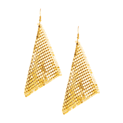 buy Metal Triangle Design Drop Earrings at Rs. 326 sold by Shein