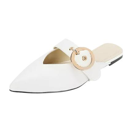 buy V Cut Buckle Strap Flat Mules at Rs. 1,311 sold by Shein