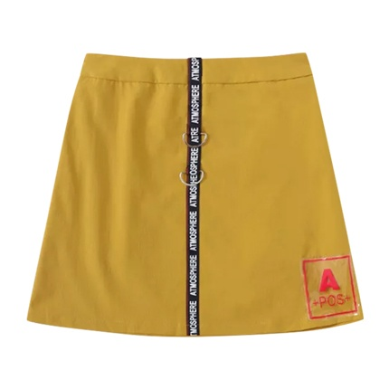 buy Letter Tape Patched Skirt at Rs. 897 sold by Shein