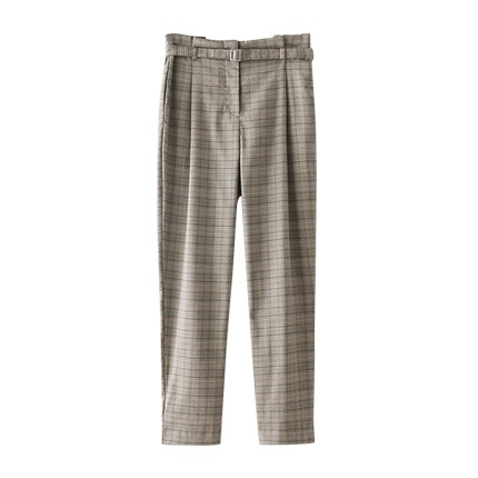 buy Self Tie Plaid Pants at Rs. 1,585 sold by Shein