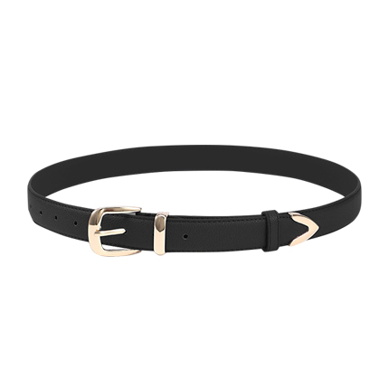buy Black Metal Buckle Belt at Rs. 326 sold by Shein