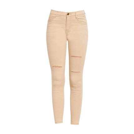 Cream coloured skinny jeans