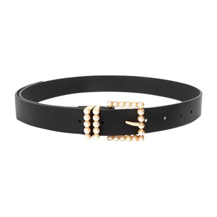 buy Faux Pearl Decor Buckle Belt at Rs. 544 sold by Shein