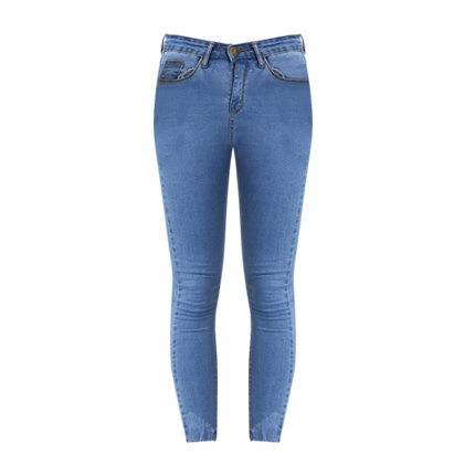 buy Raw Hem Skinny Jeans at Rs. 1,366 sold by Shein