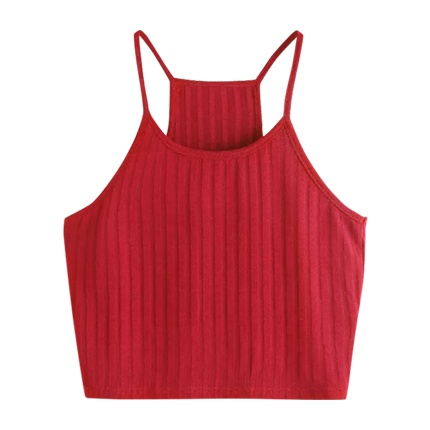 buy SHEIN Ribbed Knit Racer Back Cami Top at Rs. 414 sold by Shein