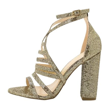 buy Caged Design High Heeled Sandals at Rs. 1,587 sold by Shein
