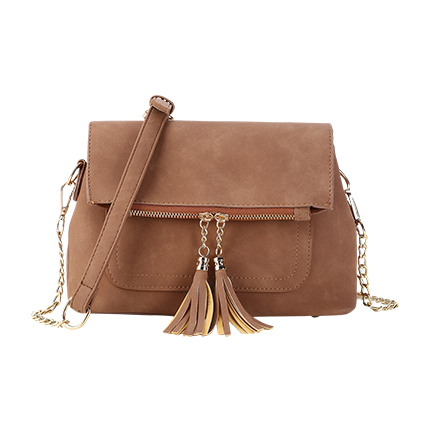 buy Double Tassel Detail PU Shoulder Bag at Rs. 1,431 sold by Shein