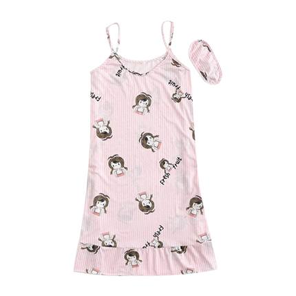 buy Girl Print Ruffle Hem Dress With Eye Mask at Rs. 469 sold by Shein