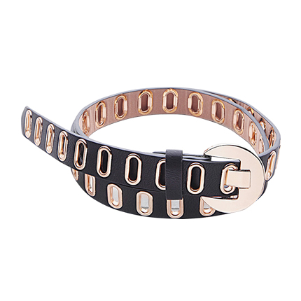 buy Metal Eyelet Faux Leather Buckle Belt at Rs. 586 sold by Shein