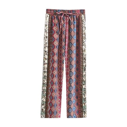 buy Contrast Sequin Geo Pattern Wide Leg Pants at Rs. 1,020 sold by Shein