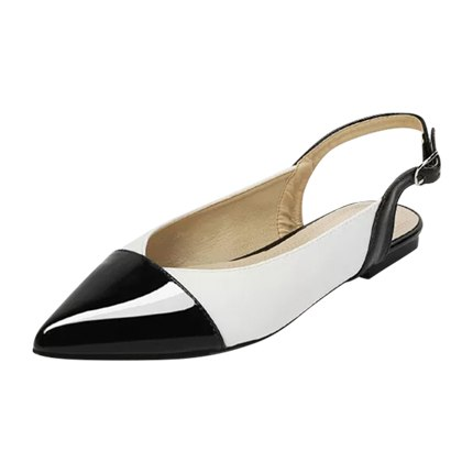 buy Two Tone Pointed Toe Flats at Rs. 1,380 sold by Shein
