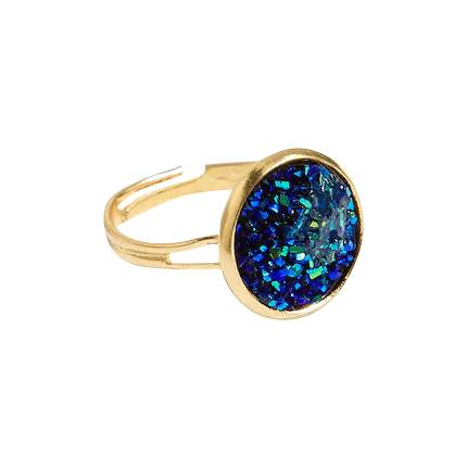 buy Glitter Round Design Ring at Rs. 111 sold by Shein