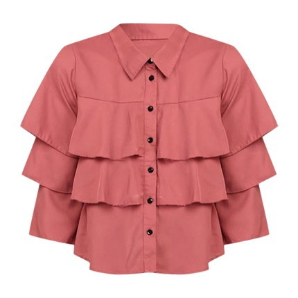 b3da1b52c0 Explore latest Pink Esme Ruffles Shirt at Rs. 899 sold by stalkbuylove