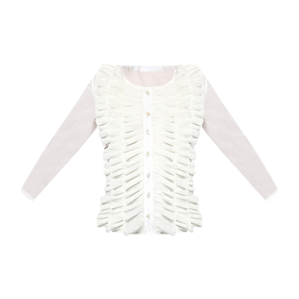 buy White Viola Ruffle Shirt at Rs. 1,100 sold by stalkbuylove