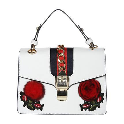 buy Rosey Posey White Bag at Rs. 1,260 sold by LuluAndSky