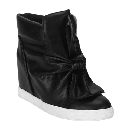 buy Black Knotted Booties at Rs. 1,470 sold by LuluAndSky