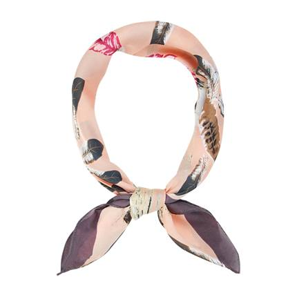 buy Feather Pattern Bandana Scarf at Rs. 317 sold by Romwe