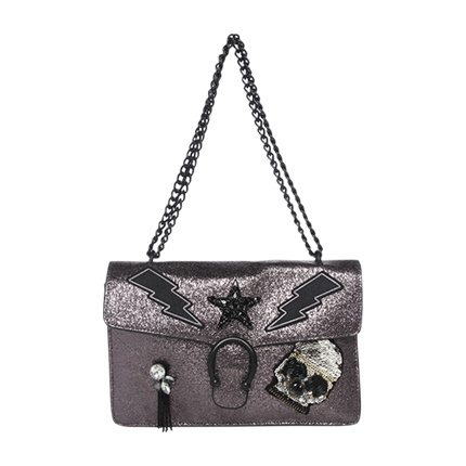 buy Steve Madden Balley Pewter Bronze Crossbody Bag at Rs. 4,999 sold by Jabong