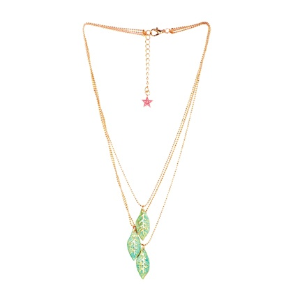 buy Ayesha Golden/Green Metal Necklace at Rs. 599 sold by Jabong