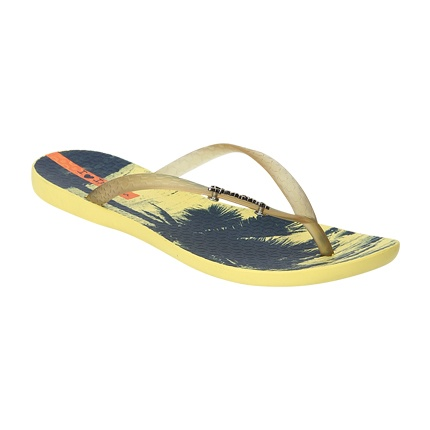 0b17e4d26 Explore latest Sole Threads Women Yellow   Black Strappy Flip-Flops ...