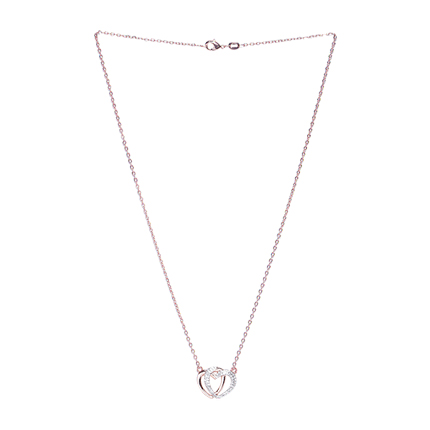 Buy Rose Gold Amp Silver Toned Stone Studded Necklace In 2021 Accessories Sociomix
